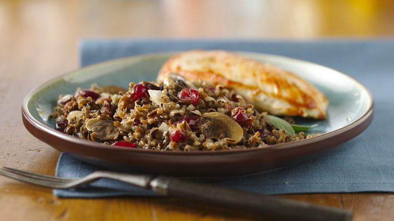 Cranberry-Wild Rice Bake
