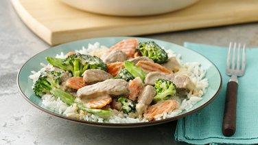 Creamy Asian Pork and Vegetable Stir-Fry