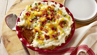 Bacon Cheeseburger Shepherd's Pie