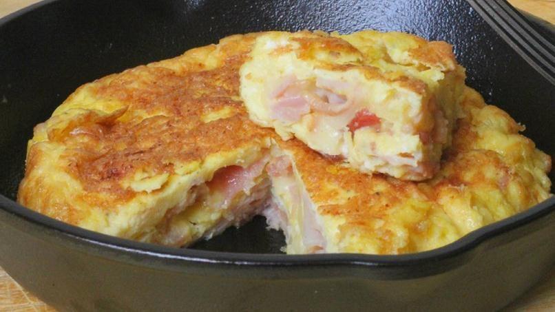 Tortilla de jam n queso y tocineta quericavida - Tortilla francesa calorias ...