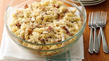 Make-Ahead Chicken Bacon Ranch Pasta