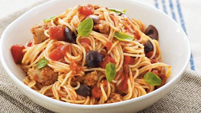 Whole Wheat Pasta Puttanesca