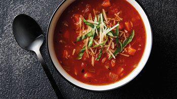 Balsamic Tomato Soffritto Soup