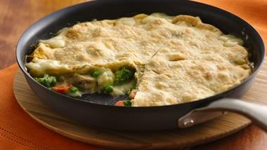 Easy One-Skillet Chunky Chicken Pot Pie
