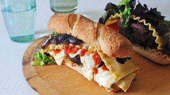 Grilled Lasagna Turkey Burger