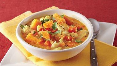 Curried Cauliflower Lentil Soup