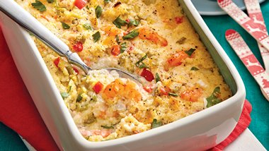 Shrimp and Grits Bake