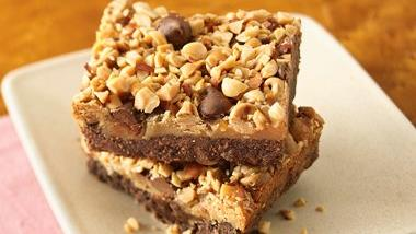 Peanuttiest Peanut Butter Brownie Bars