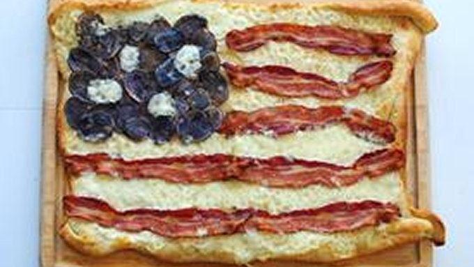 Bacon Flag Pizza