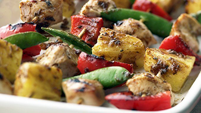 Skinny Apricot Chicken Kabobs recipe - from Tablespoon!