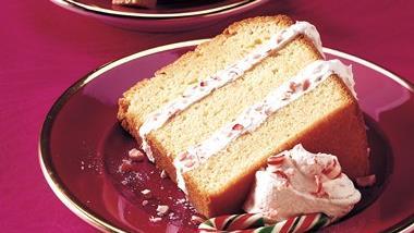 Layered Peppermint Pound Cake