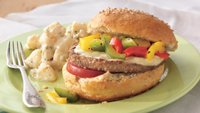 Veggie Burger and Grilled Pepper Sandwiches