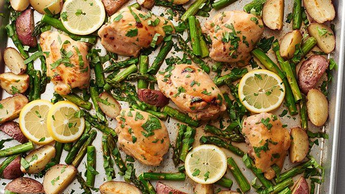 Lemon-Herb Chicken Sheet Pan Supper