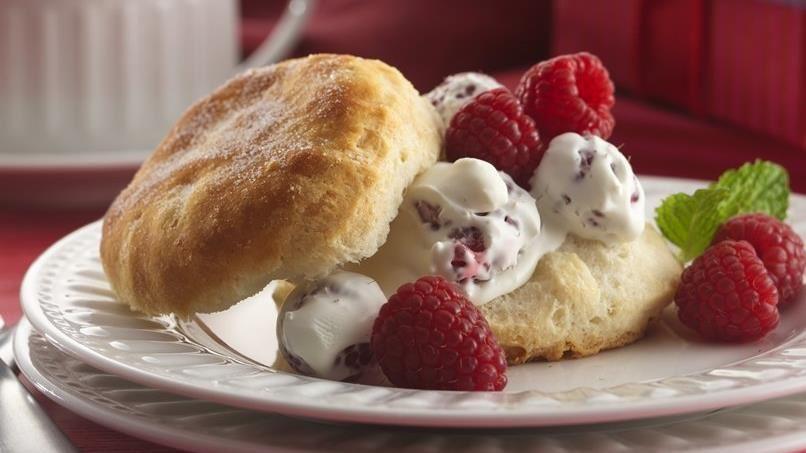 Raspberry & Cream Shortcakes