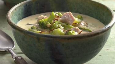 Creamy Broccoli and Wild Rice Soup
