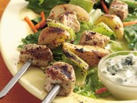 Grilled Buffalo Chicken Kabobs Salad