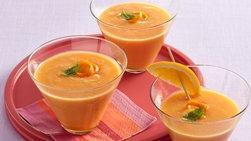 Licuado de naranja y papaya