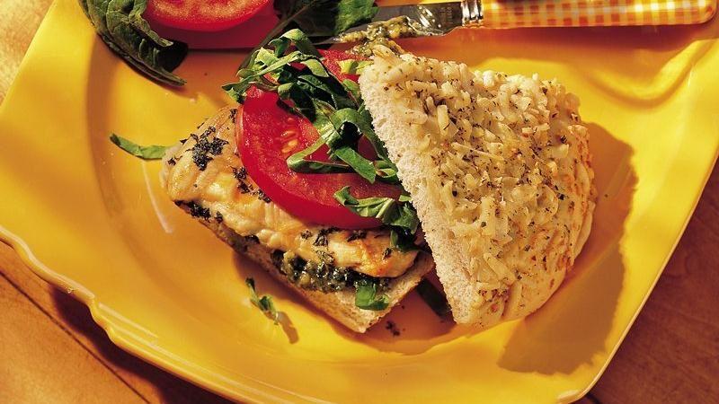 Chicken-Pesto Sandwiches