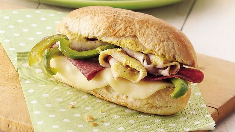 Hoagie Sandwiches on the Grill
