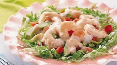 Shrimp Louis Platter Salad
