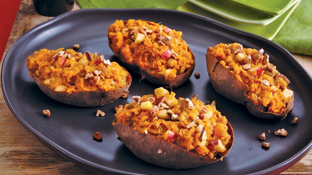 Apple-Pecan Stuffed Sweet Potatoes