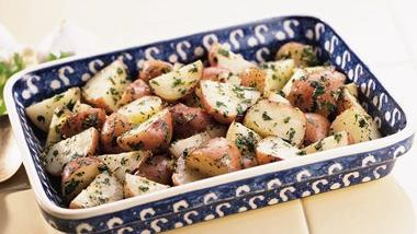 New Potatoes with Garlic and Cilantro