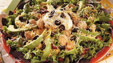 Baja Chicken Salad with Taco Vinaigrette