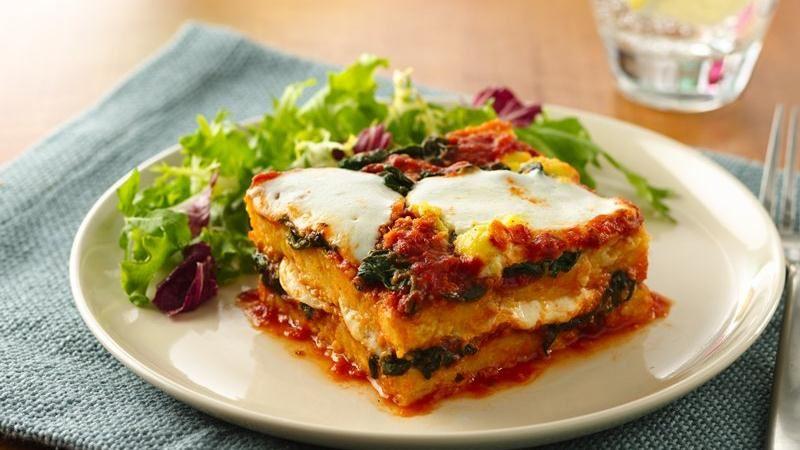 Polenta-Spinach Gratin with Panko – finecookingblog