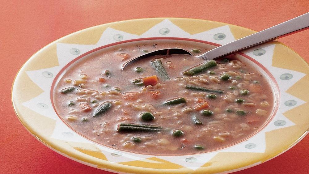 Tomato-Basil Alphabet Soup