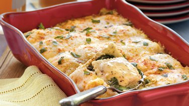 Spinach and Ravioli Lasagna