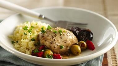 Slow-Cooker Mediterranean Chicken Marbella