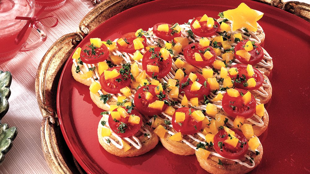 Holiday Herb Crescent Trees Recipe From Pillsbury.com