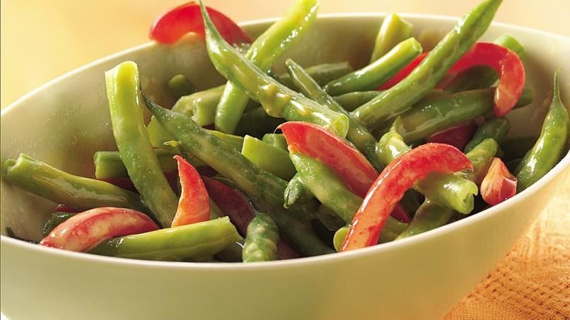 Green Beans and Red Peppers
