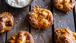 Buffalo Chicken Stuffed Soft Pretzels