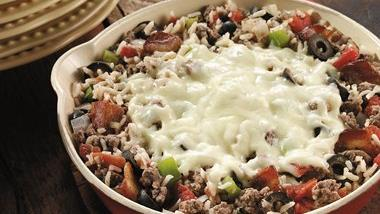 Italian Beef and Rice Skillet