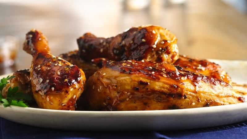Apricot-Sesame Glazed Chicken