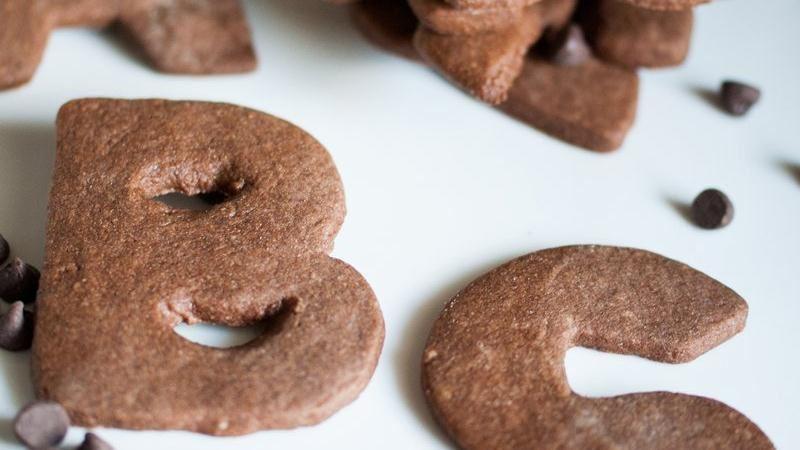 Chocolate-Cinnamon Letter Cookies