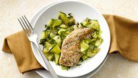 Paleo Lemon Chicken with Pesto Zucchini Pasta