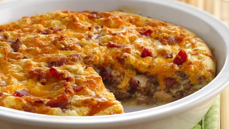 Impossibly Easy Bacon Cheeseburger Pie Recipe From Betty