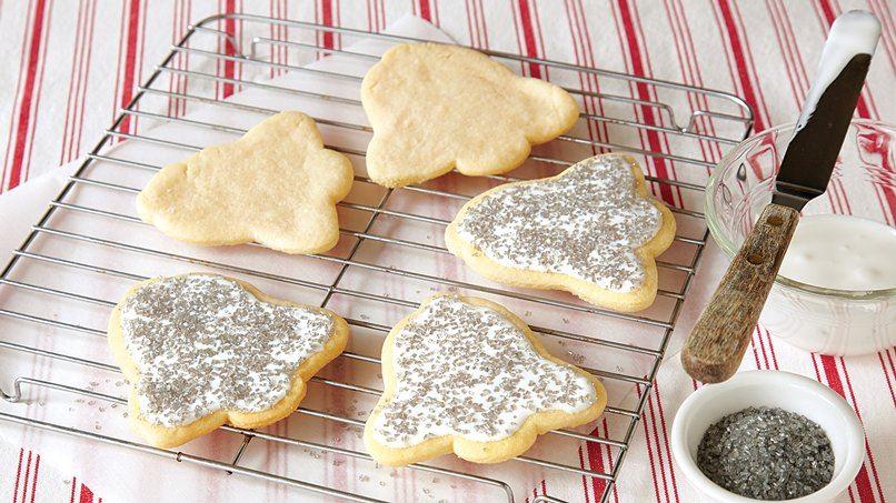 Silver Bell Cutout Sugar Cookies
