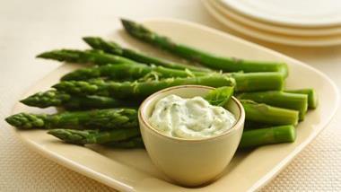 Asparagus with Basil Pesto Mayonnaise