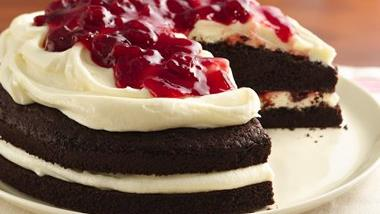 Gluten-Free Cherries and Cream Devil's Food Cake