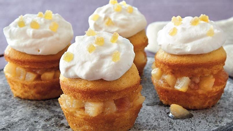 Honey Cream Pear Cupcakes