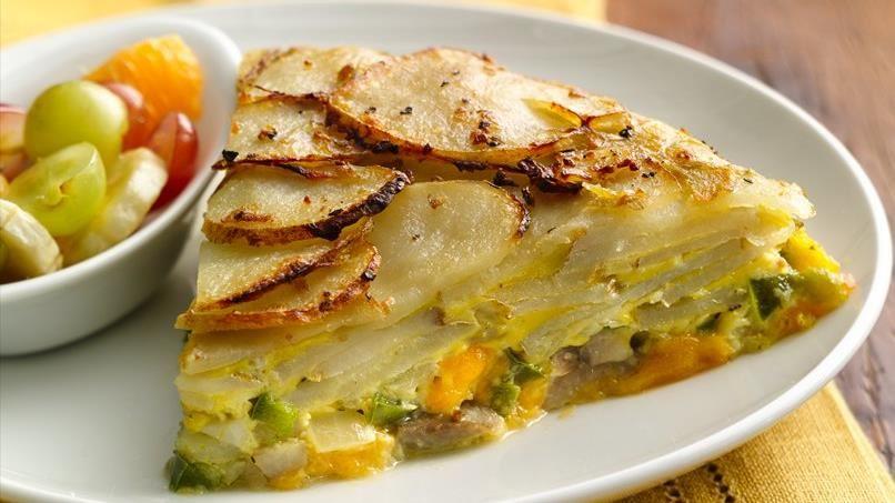 Potato Crusted Frittata