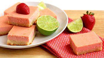 Strawberry Margarita Cheesecake Bars