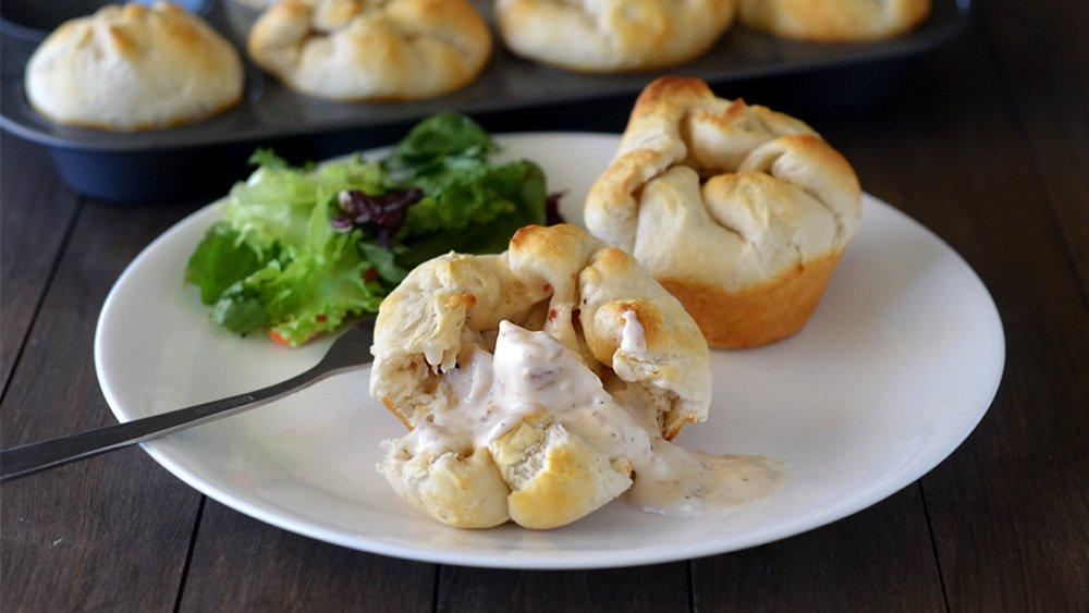 Chicken Alfredo Biscuits