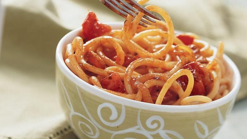 Spicy Bucatini Pasta