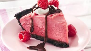 Frozen Chocolate-Raspberry Pie