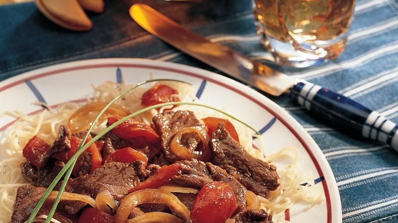 Spicy Pepper Steak recipe from Betty Crocker