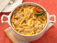 Baked Mexican Macaroni and Cheese